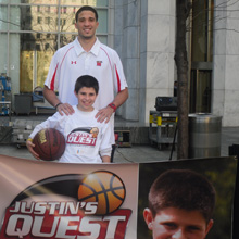 Justin and Greivis at CBS Early Show